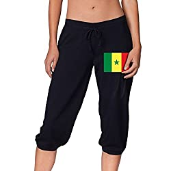 Flag Of Senegal Sports Women S Cropped Trousers Casual Pants Jogger Sweatpants
