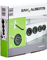 GAH-Alberts 801960 velgenhouder-set, wandhouder voor autovelgen, bandenhouder met bedekte pvc slang, elektrolytisch verzinkt, 20 cm lange velghaak