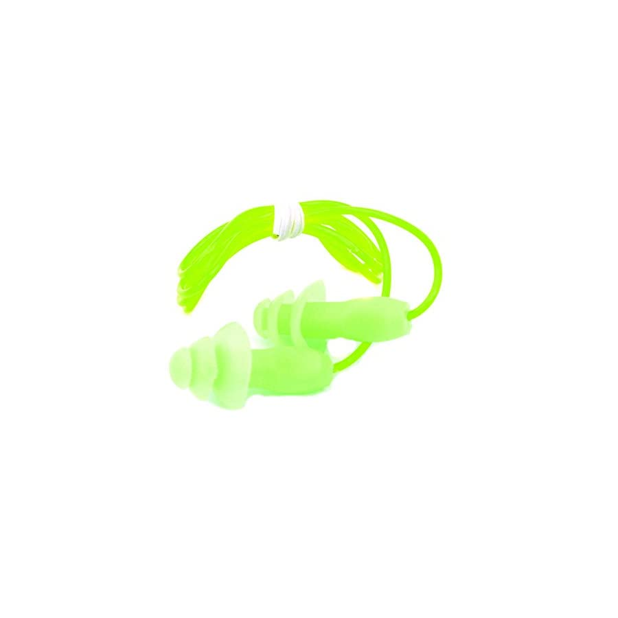 BESTCYC 5pcs Colorful Silicone Earplugs Swimmers Soft and Flexible Gel Corded String Ear Plugs for Swimming