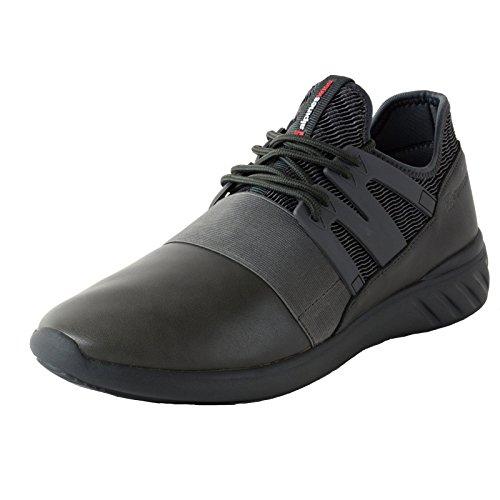 Alpine Swiss Josef Men Tennis Shoes Low Top Sneakers Flex Strap Mesh Knit Collar,Gray,12 D(M) (Alpine Mens Shoes)