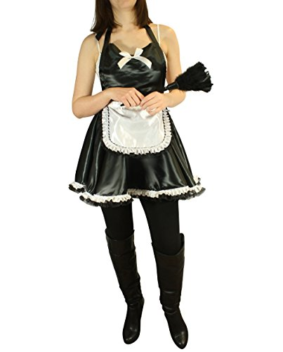 Maid Dress by Tipsy Totes | Valentine's Day Lingerie | French Maid Costume Sexy Black