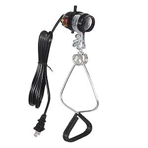 Simple Deluxe 18/2-Gauge Brooder and Heat Clamp Lamp UL Listed with Bakelite Socket 150 Watt 6 Foot Cord