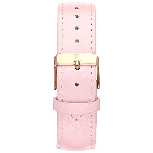 Paul Valentine Reloj de pulsera, color rosa piel Reloj de pulsera: Amazon.es: Relojes