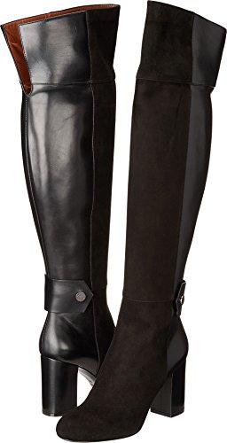 Belstaff Dames Ashbridge Zacht Suède En Lederen Laarzen Zwart 39 M Eu