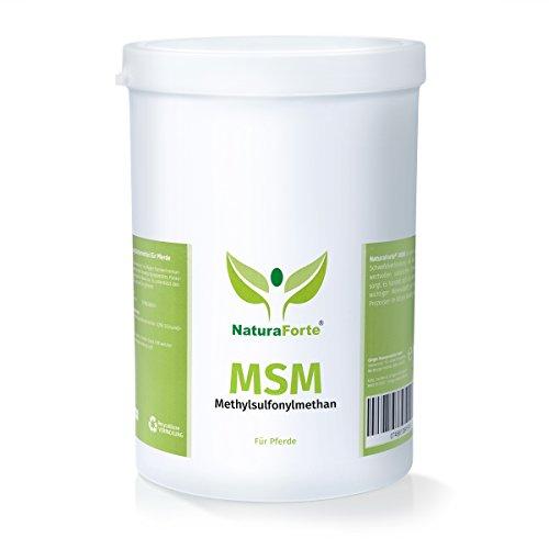 NaturaForte MSM Pulver Methylsulfonylmethan 1000g für Pferde