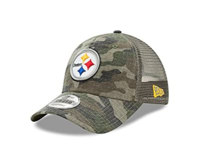 Pittsburgh Steelers Camo Trucker Duel New Era 9FORTY Adjustable Snapback Hat / Cap from New Era
