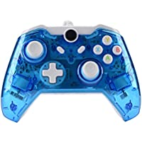 USB Wired Game Controller Xbox One/Slim Gamepad Joystick Joypad for PC Win / 7/8 / 10 (Clear Blue)