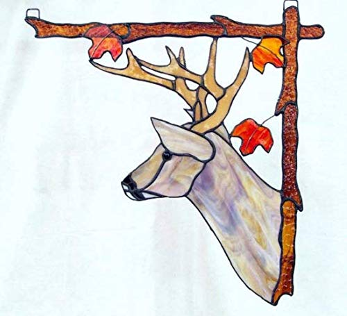 Stained Glass Deer Window Hanging, Right by Link's Stained Glass Creations