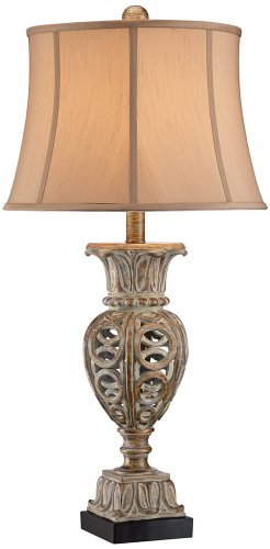 Grand Style Desk (Grand Rue Washed Gold Table Lamp)
