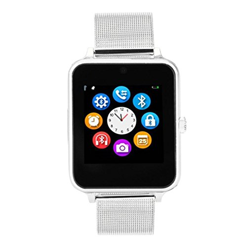 Rumas Z60 PLUS Sport Smart Watch Phone - Multifunction with Alarm Calendar Calculator Camera Sleep Monitor Sedentary Remind (Silver)