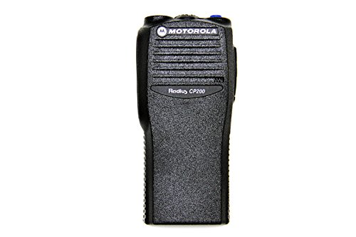 MaximalPower New Front Cover Outer Shell Housing for Motorola CP200 Two Way Radio Walkie Talkie Case Replacement Refurbish Kit with Buttons Channel PTT Button Stickers