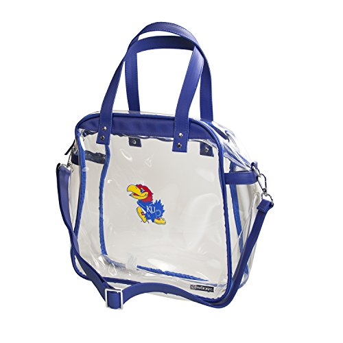 CAPRI DESIGNS CLEARLY FASHION LICENSED STADIUM COLLECTION CARRYALL TOTE---MEETS STADIUM REQUIREMENTS (University of Kansas) by CLEARLY FASHION