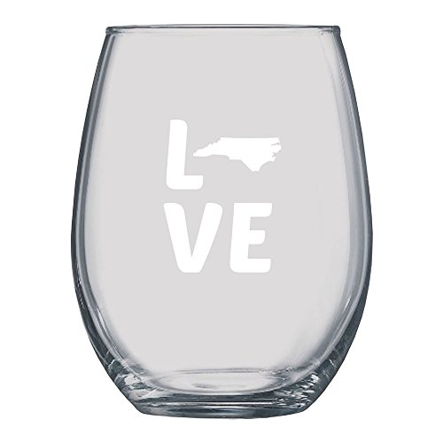 North Carolina Love Stemless Wine (North Carolina Wine)