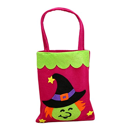 Beautyonline Halloween Candy Bags, Cute Halloween Non-Woven Fabrics Portable Candy Cookie Snacks Handbag Pumpkin & Spider Design Tote Bag for Children Gift and Halloween Party Favors( (Purse Cookie Favor)