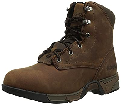 Rocky Women's Lace-Up Aztec Work Boot