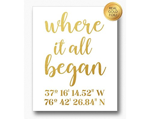 Personalized Custom Made to Order Gold Foil Art Where It All