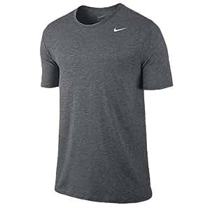 New Nike Dri-Blend Short Sleeve Tee Carbon/White Size Medium