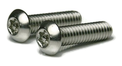 Torx w/Pin Tamper Proof Security T-10 Button Cap Screw 18-8 Stainless Steel - 6/32 x 1/2 Qty-250