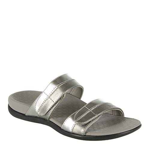 Vionic Women's Orthaheel Technology Women's Shore Slide,  Pewter, 8 B(M) US (Best Way To Relieve Chafing)