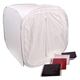 G-Star Photography 24 Inch Studio Photo Light Tent Lighting Box w/ 3 Backdrops