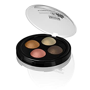 Lavera Illuminating Eye Shadow Dream 03 , Four Shimmering Baked Eyeshadows, Wet or Dry, For Night and Day Wear, 3 Pack