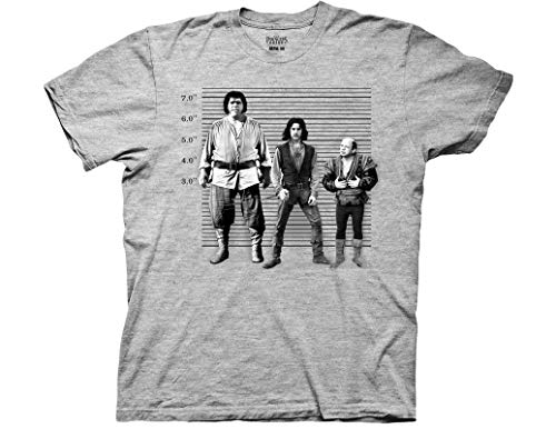 Ripple Junction Princess Bride Adult Unisex Police Lineup Light Weight Crew T-Shirt MD Heather Grey