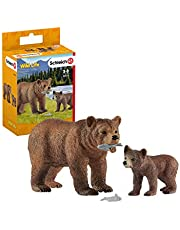 Schleich Grizzly Bear Mother with cub Playset