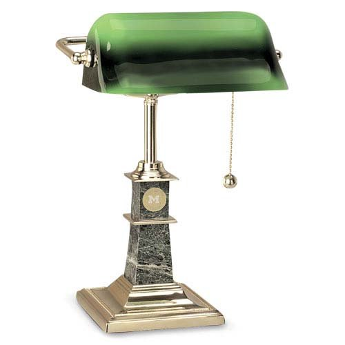CSI Cannon Sports Michigan Wolverines Bankers Desk Lamp ()