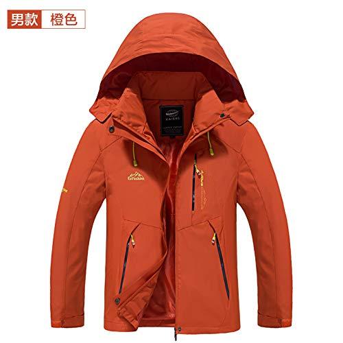 Exterior para Chaqueta Macho 4XL Chaqueta Wllenen Impermeable Hombre Naranja Chaqueta xqR1IwnCv