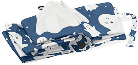 Chovy 日傘 UVカット ワンタッチ 折りたたみ傘 軽量 自動開閉 遮光 レディース メンズ 晴雨兼用 幽霊 かわいい 可愛い おもしろ 雨傘 傘 晴雨傘 折り畳み 8本骨 遮熱 丈夫 耐風撥水 収納ポーチ付き プレゼント