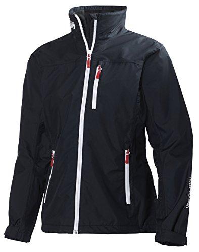 Helly Hansen Women's Crew Midlayer Fleece Lined Waterproof Windproof Breathable Rain Coat Jacket, 597 Navy, Medium