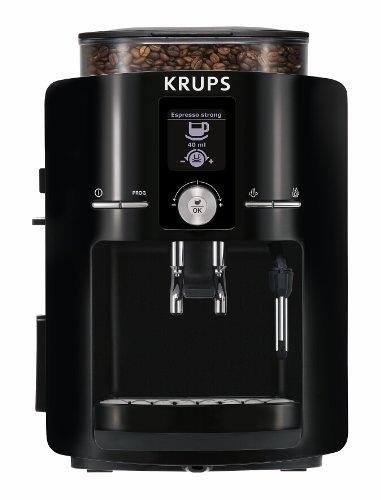 KRUPS EA8250 Fully Auto Espresso Machine, Espresso Maker, Burr Grinder, 60 Ounce, Black - Krups Automatic Maker Coffee