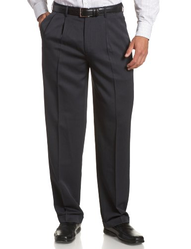 Perry Ellis Men's Portfolio Double Pleated Micro Melange Pant, Twilight, 36x32