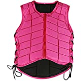 kesoto Adults Kids Equestrian Protective Vests Horse Riding Vest Body Protector Safety Waistcoat, Pink