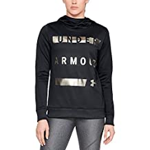 Under Armour Women's Synthetic Word Mark Fleece Pullover, Black, X-Small