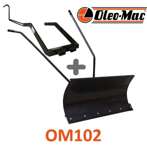 Hoja de nieve 118 cm negra + adaptador para oleo-Mac om102: Amazon ...