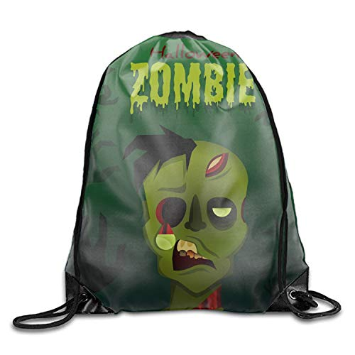 Gym Drawstring Backpack -Halloween Zombie Shopping Travel Backpack Tote Student Camping]()