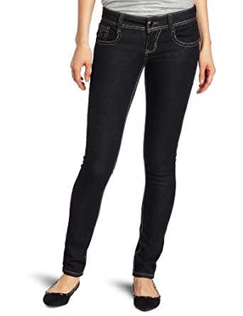 Southpole Juniors Fashion Skinny Jean with Star Design On Back Pocket, Black, 15