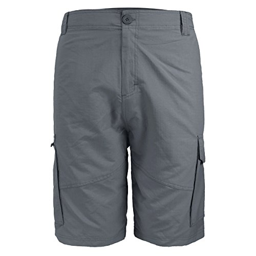 Mens Ripstop Nylon Cargo Shorts Classic Fit Walk Lightweight Twill Short for Men Work to Weekend