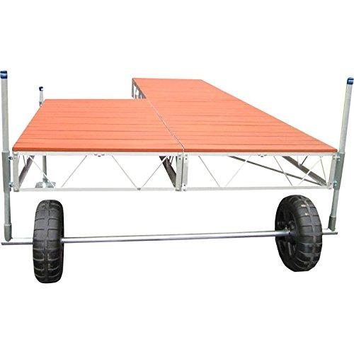 Patriot Docks 24ft. Patio Roll-In Dock - With Brown Aluminum Deck Panels, Model# 10567