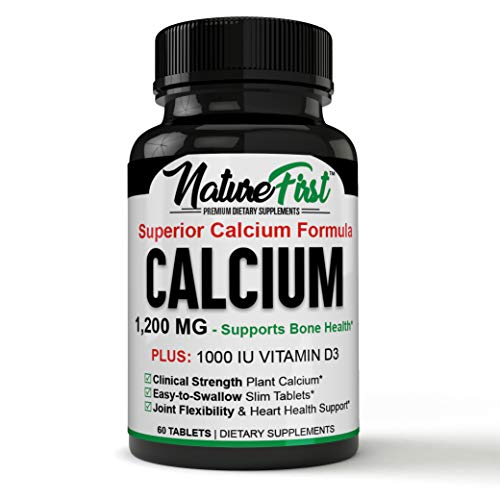 Premium-Quality, Immediately Effective Calcium and Vitamin D3 Mineral Supplement, Supports Bone Strength for Optimal Health