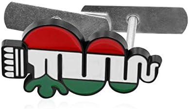 L/&U Side Car Fender fol/âtre Voiture embl/ème Badge Calandre Coffre arri/ère Decal pour Alfa Romeo Mito de Spider GT Giulietta,Noir