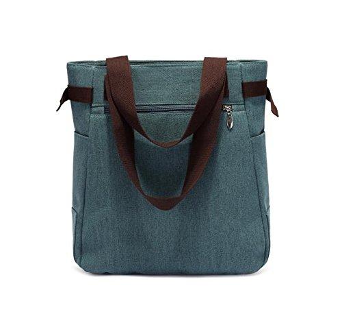 Handtaschen Cat Spring (verschiedene Farben) Handtasche Tote mit Stickerei Katze Grün i9qws3MzYd