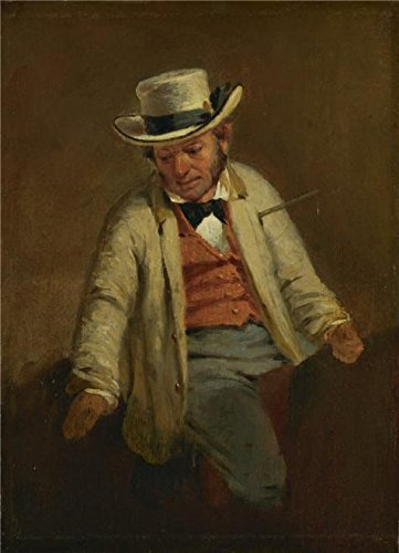 Oil Painting 'Francis William Edmonds,Study For The Thirsty Drover,about 1856 V2', 16 x 22 inch / 41 x 56 cm , on High Definition HD canvas prints, gifts for Basement, Bath Room And Garage Decoration