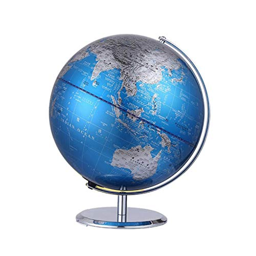 ZWS Knowledge Metal Globe Teaches Students to Use HD Globe Diameter 20CM Office Children's Study Decoration Decoration Global (Size : 20cm)