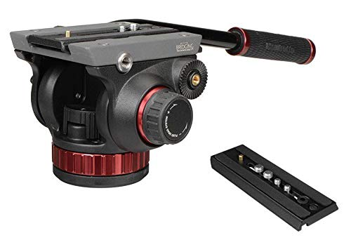 Manfrotto MVH502AH Pro Video Tripod Head with Flat Base, Fluid Pan, Drag System, Built-In Counterbalance and Calumet Quick Release Plate (Standard Packaging)