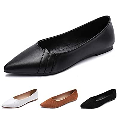 CINAK Women's Flats Ballet Classic Pointed Toe Light Comfort Causal Lady Shoes