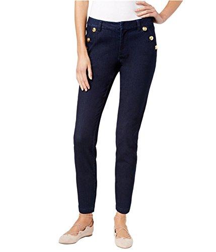 - Maison Jules Womens Denim Sailor Sailor Pants Blue 8