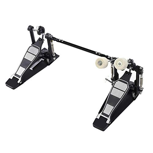 - Cocoarm Double Kick Drum Pedal for Bass Drum,Dual Pedal Double Chain Drive Percussion Hardware