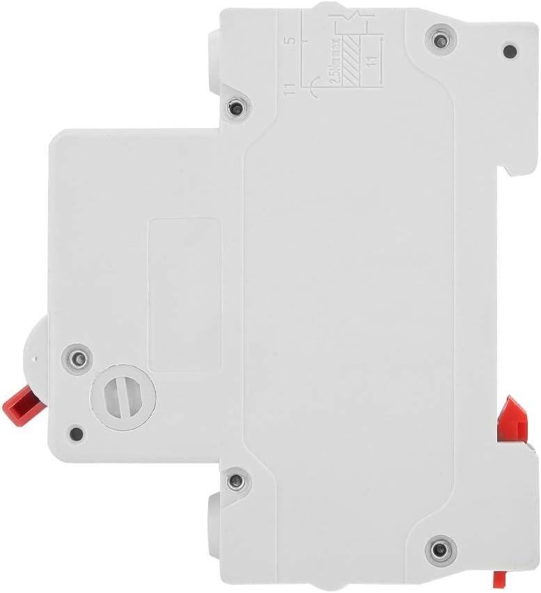 Courant 20 A Yosoo Health Gear Disjoncteur Miniature DC MCB unipolaire 1 Module Disjoncteur Miniature unipolaire de Fuite pour Protection Contre Les surcharges capacit/é de Coupure 6 KA
